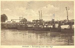 Afb. Schipbrug bij Arnhem