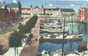 Afb.: Het Damrak in Amsterdam, circa 1910