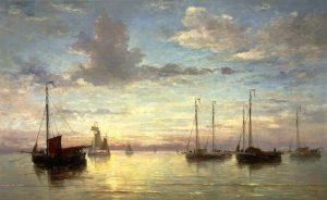 Afb. Mesdag avondstond op zee Teylers Museum