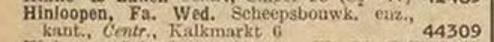 Afb.: 1 regel uit het telefoonboek van 1936