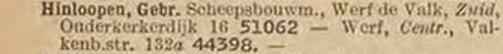 Eén regel uit het telefoonboek van 1936