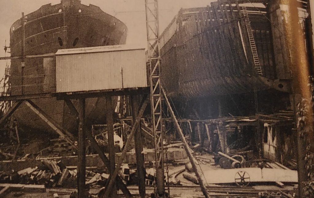 Afb. Brand op de helling, 1919