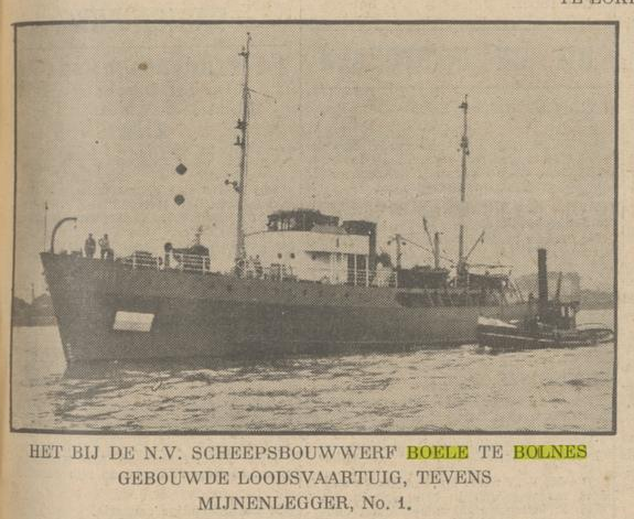 Afb.: Loodsboot Mijnenlegger no 1