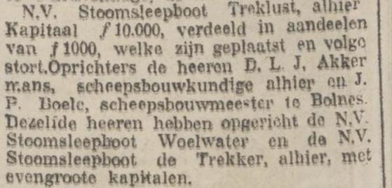 Afb. Artikeltje Rotterdamsch Nieuwsblad